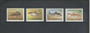 KYRGYZSTAN: Sc.48-51  / **Beautiful FISHES  **/ Set of 4 /  MNH.