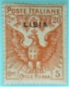 Libya 1915-1916 Scott #B3 Mint Hinged LIBIA overprint