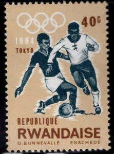 RWANDA Scott 78  MH* Olympic Soccer stamp