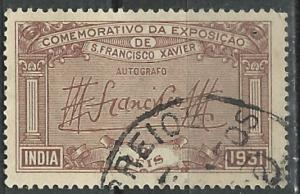 Portuguese India # 417 St.Xavier Exposition 1931 (1) VF Used