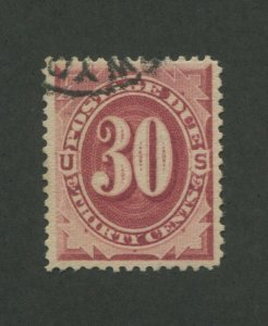 1891 United States Postage Due Stamp #J27 Very Fine Small Postal Cancel