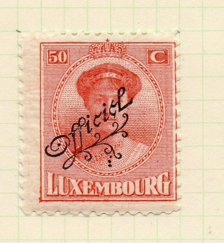 Luxembourg 1921-22 Early Issue Fine Mint Hinged 50c. Official Optd 253206