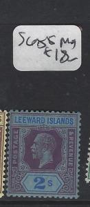 LEEWARD ISLANDS (P2305B)  KGV  2/-   SG 85    MOG