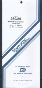Showgard Stamp Mount 260 / 59 BLACK Background Pack of 10