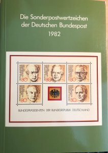 Dt. Bundespost 1982 BRD and Berlin MNH Commemoratives Complete Year in booklet