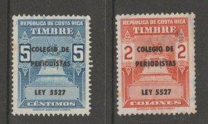 Costa Rica College revenue fiscal cinderella stamp scarce seldom seen 6-15-20