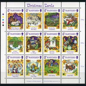 GUERNSEY 1986 - Scott# 346 Sheet-Christmas NH