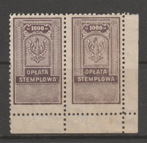 Poland Revenue Fiscal Cinderella stamp 9-20-1 - mnh gum - slight gum disturb