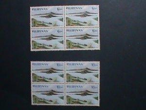 PHILIPPINES-1962-SC#868-9-WHO DRIVE TO ERADECATE MARALIA-MNH BLOCKS- VF