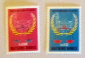 UN, Geneva - 87-88, MNH Set. Int Court, Justice. SCV - $1.00