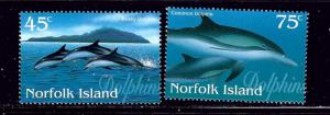 Norfolk Is 621-22 MNH 1997 Dolphins