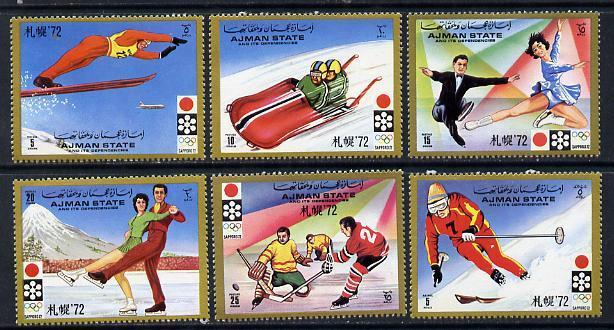 Ajman MNH 762-7 Sapporo Winter Olympics