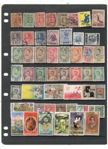 THAILAND COLLECTION ON STOCK SHEET, MINT/USED