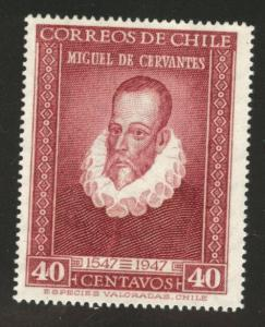 Chile Scott 250 MNH** 1947 Cervantes stamp