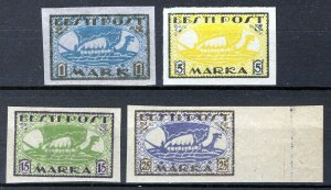 Estonia 1919-20, Vikingships, Mi 12y,13x, 23B, 24B, All MNH Cat +34,5€ (E10004)