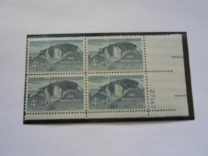 SC# 1198 4 CENT PL. BLOCK HOMESTEAD ACT MNH