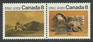 Canada # 563a Plains Indians   se-tenant pair  (1) Mint NH