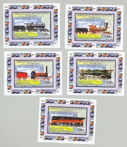 Congo (Former Zaire) 2006 Trains 5v Deluxe S/S