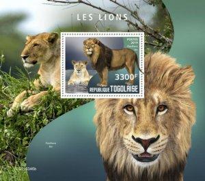 TOGO - 2019 - Lions - Perf Souv Sheet - MNH
