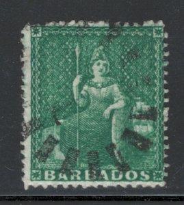 Barbados 1861 Britannia 1/2p Scott # 13 Used