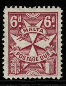 MALTA SGD18 1925 6d PURPLE MTD MINT