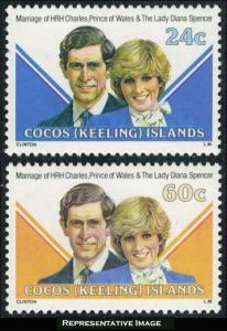 Cocos Islands Scott 73-74 Mint never hinged.