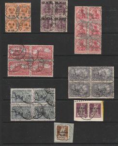 Germany a small lot of early blocks or on piece