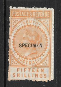 SOUTH AUSTRALIA 1886-96   15/-    QV  MNH  SPECIMEN  P11-12 1/2   SG 198as