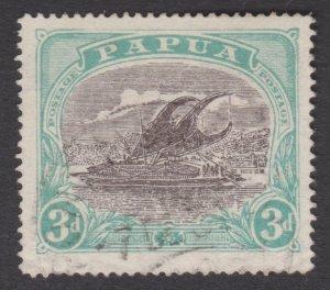 Papua Lakatoi 1916 SG98 3d. Small PAPUA