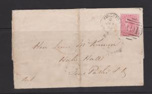 Great Britain 1855 Type QV 4d Rose on Jamaica 1859 Local Cover SG#Z9