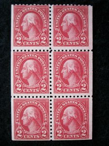 US - SCOTT# 583a - BOOKLET PANE 6 - MNH - CAT VAL $200.00