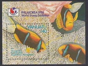 VANUATU 1994 Phila Korea souvenir sheet fine used .........................A275