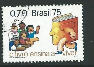 BRAZIL SG1562 1975  DAY OF THE BOOK FINE USED