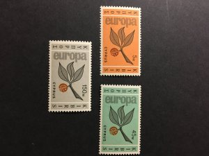 Cyprus sc 262-264 MNH comp set
