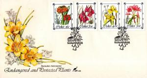 Ciskei - 1988 Protected Flowers FDC SG 123-126