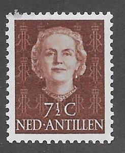 Netherlands Antilles # 215  Juliana, added 7½ value 1954 (1) VLH Unused