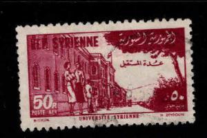 Syria Scott C181 Used 1954 airmail stamp