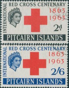 Pitcairn Islands 1963 SG34-35 Red Cross set FU