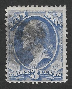 Doyle's_Stamps: 1873 Used Navy Official Issue, Scott #O37