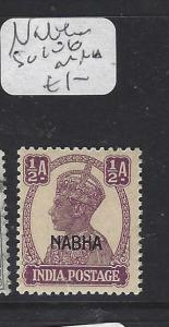 INDIA  NABHA  (PP1609B)  KGVI    1/2A   SG 106   MNH