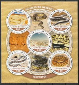 Guinea-Bissau MNH S/S Snakes-Serpents 2016