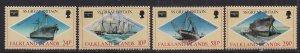 Falkland Island 1986 QE2 Set Ameripex '86  Umm SG 527-530 ( F1436 )