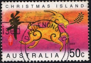 Christmas Island: SC#440 50¢ Chinese New Year: Year of the Goat (2003) Used