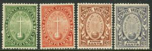 VATICAN Sc#B1-B4 1933 Holy Year Complete Set OG Mint Hinged