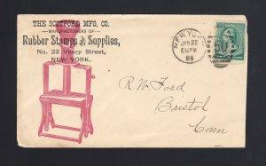 NEW YORK: New York 1889 Scotford MFG RUBBER STAMPS & SUPPLIES