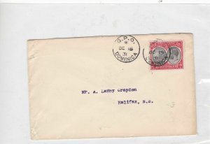 dominica 1931stamps cover  Ref 9956