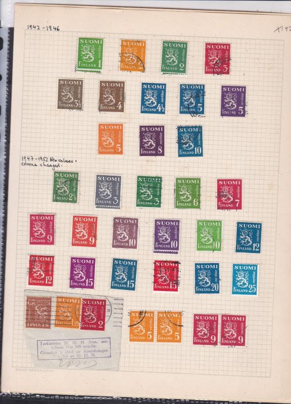 finland 1942-46  stamps page ref 18045