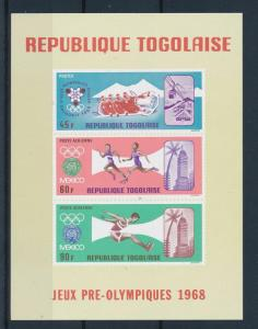 [61084] Togo 1967 Olympic games Mexico Grenoble Athletics MNH Sheet