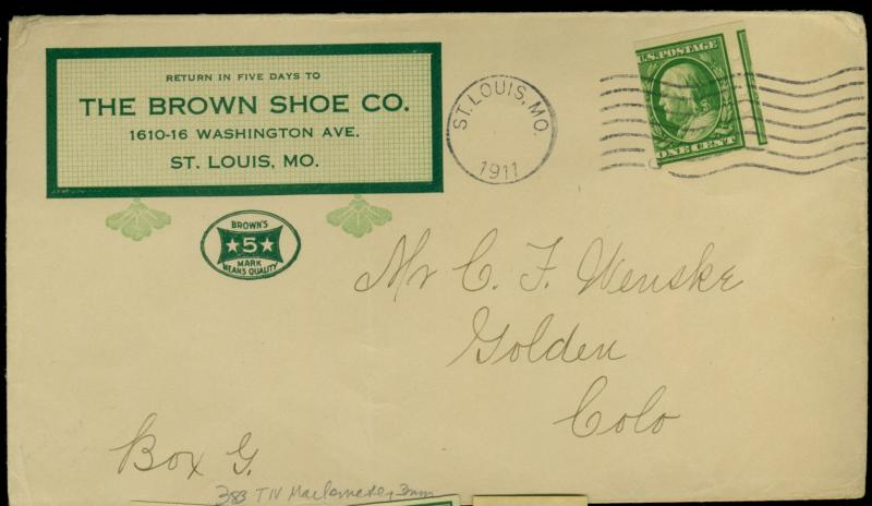 383 Used Mail O Meter Type 4 On Cover F-VF Cat$225