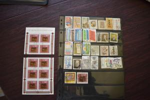 GERMANY COLLECTION 1980 YEAR SET  USED  CAT VALUE OVER 23.00